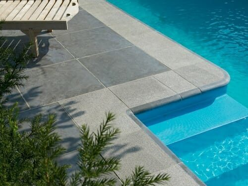 pool paving grey granite