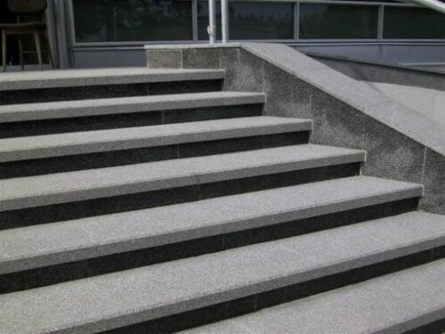 granite grey steps