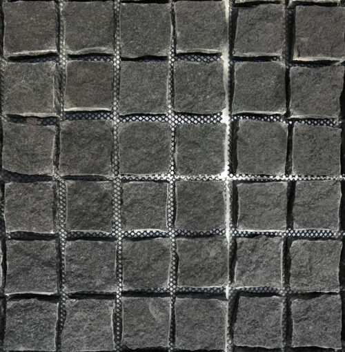 Midnight Natural Split Cobblestones Granite Black Cobblestones