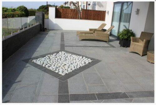 raven grey granite outdoors