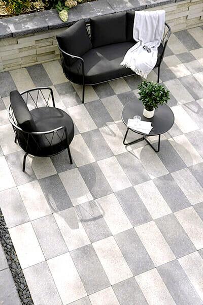 granite tiles and paving tiles - white pavers